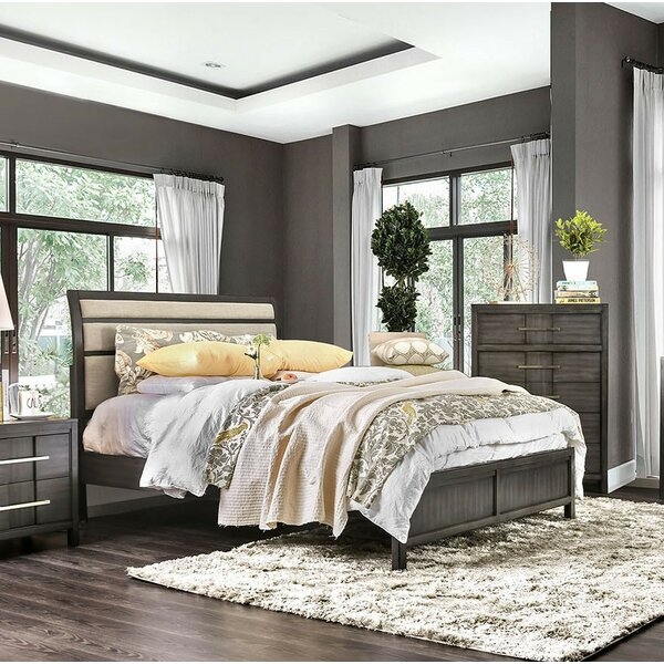 Midwest Upholstered Sleigh Bed by Ivy Bronx