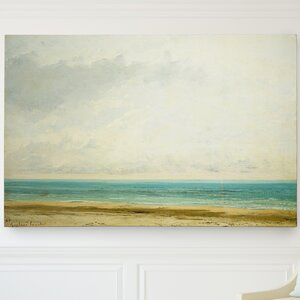 'The Calm Sea' by Gustave Courbet Painting Print on Wrapped Canvas by Wexford Home