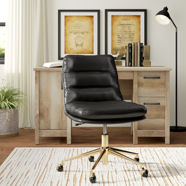Manhattan Tufted Mid-Back Office Chair by Greyleigh