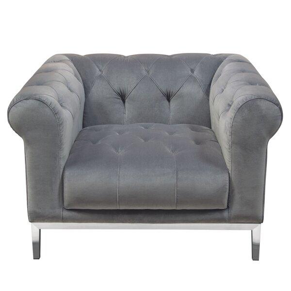 Monroe Chesterfield Chair by Diamond Sofa Diamond Sofa