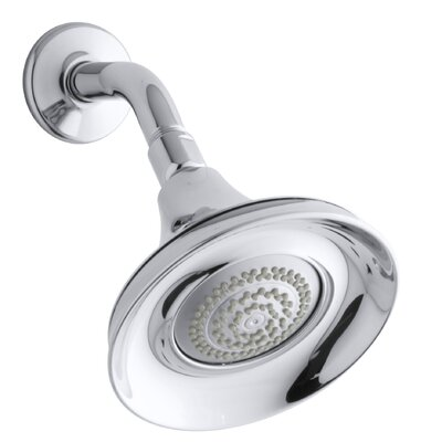 fort 175 gpm wallmount shower head with masterclean spray nozzle