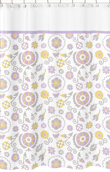 Suzanna Cotton Shower Curtain by Sweet Jojo Designs