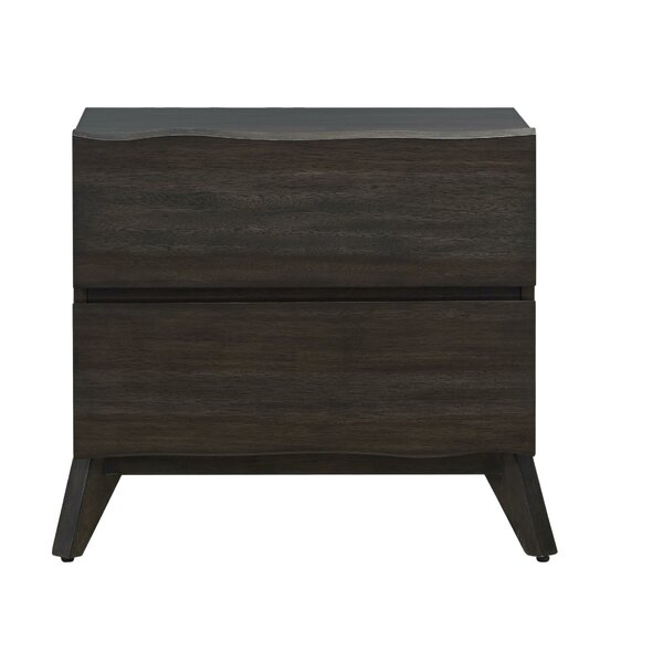 Conwell Wooden 2 Drawer Nightstand by Foundry Select