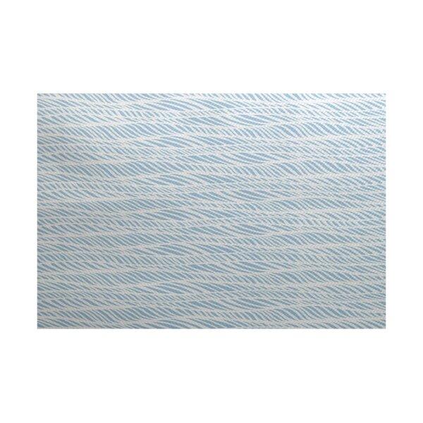 Viet Light Blue/Gray Indoor/Outdoor Area Rug by Bloomsbury Market