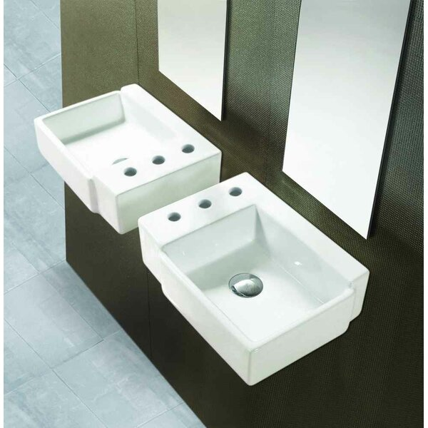 Ceramic Circular Bathroom Sink with Faucet by American Imaginations