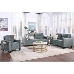 Living Room Combination Sofa Suit Upholstered Sectional Armchair, Loveseat And Three Seat (6 Persons) by Latitude Run®