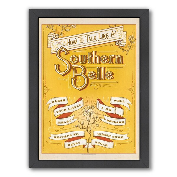 Talk Southern Belle Framed Vintage Advertisement by East Urban Home