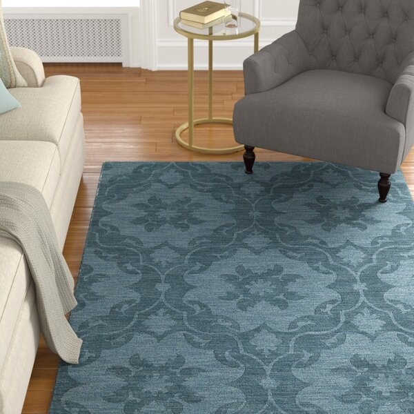 Cotswold Turquoise Solid Aera Rug By Charlton Home.