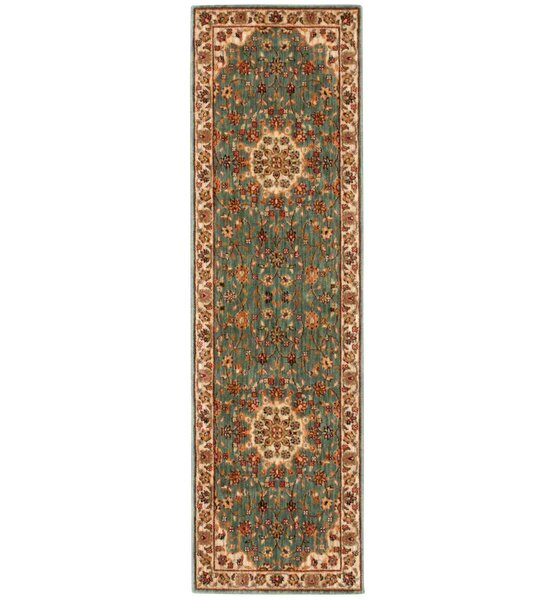 Babylon Ancient Times Palace Teal Area Rug By Kathy Ireland Home.