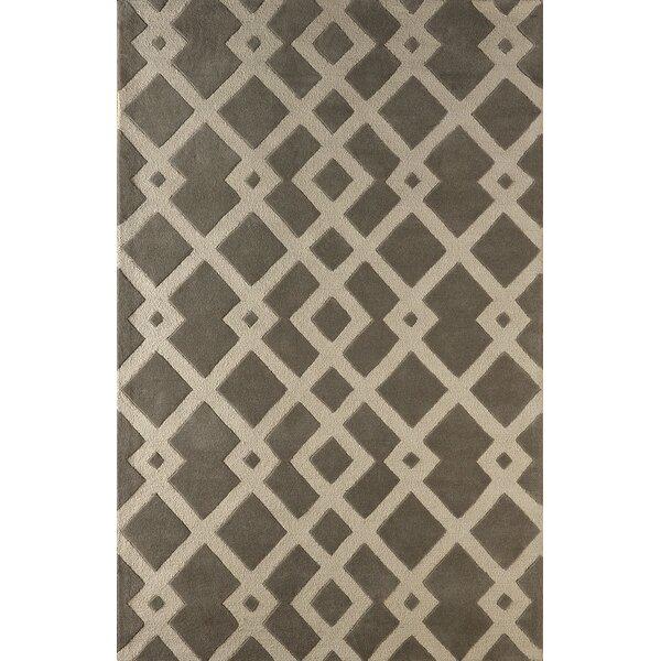 Glenside Hand-Tufted Soot/Brown Area Rug by Mercer41