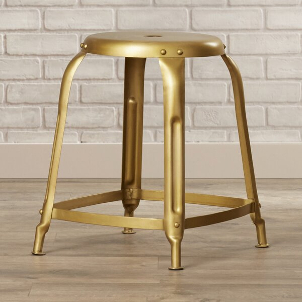 Garvin Bronze Iron Stool by Trent Austin Design