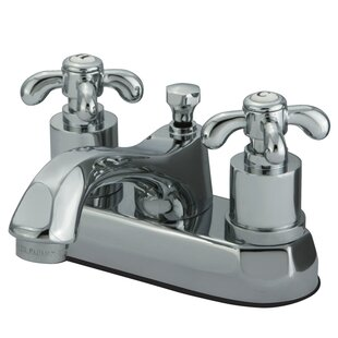 French Country Centerset Bathroom Faucet with Pop-Up Drain
