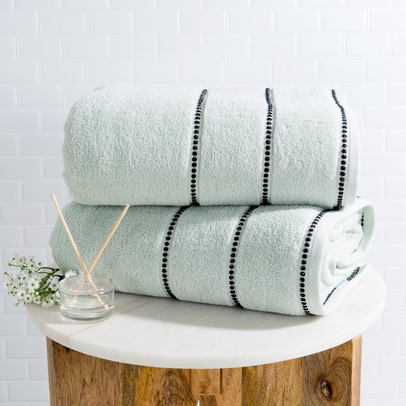 Mowery 2-Piece 100% Cotton Bath Sheet Set