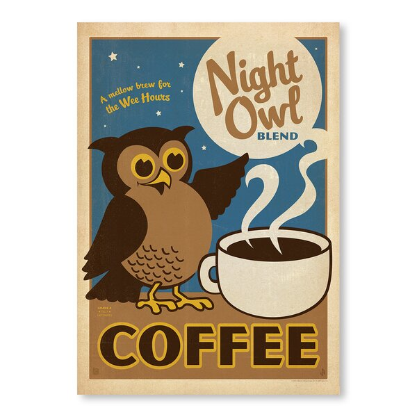 Night Owl Vintage Advertisement by East Urban Home