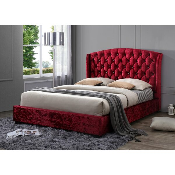 Hillpoint Classic Queen Upholstered Platform Bed by Rosdorf Park