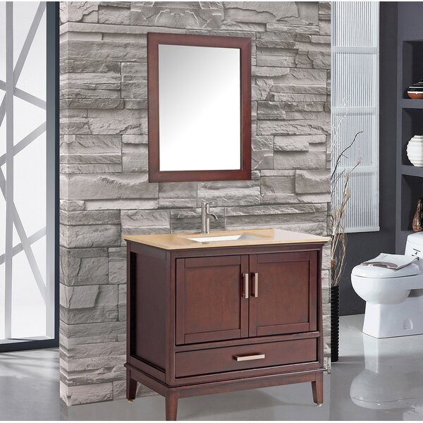 Middleton 24 Single Bathroom Vanity Set with Mirror by Andover Mills