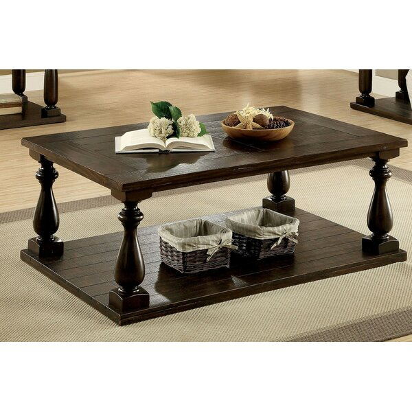 Swedish Hill Floor Shelf Coffee Table With Storage By Canora Grey