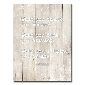 'Buddha Quote' Textual Art on Canvas by Bloomsbury Market
