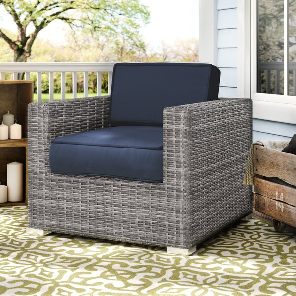 Hilma Resort Grade Club Patio Chair with Sunbrella Cushions by Sol 72 Outdoor