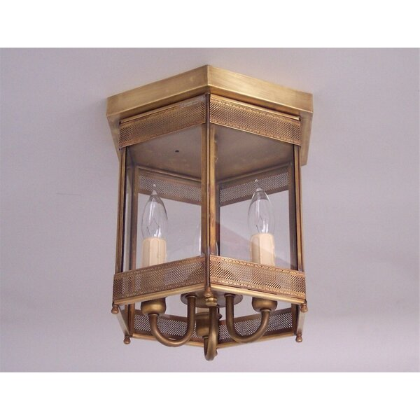 Traditional 3-Light Outdoor Flush Mount by Astoria Grand