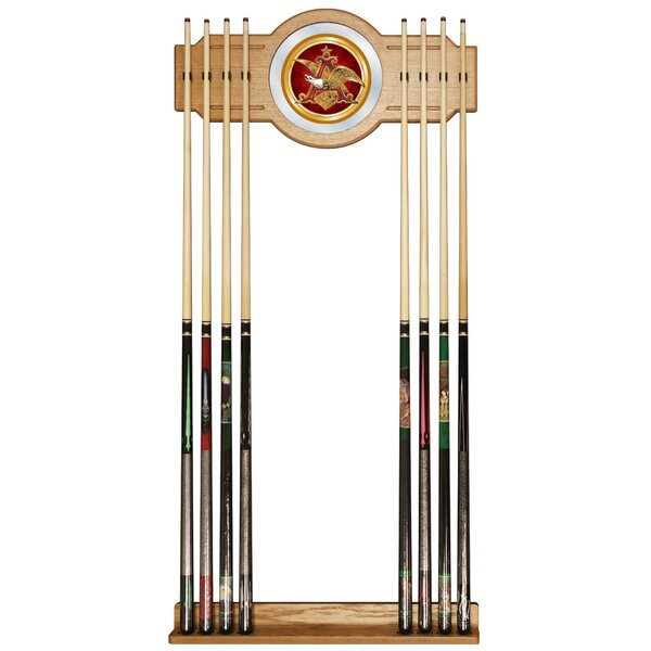 Anheuser Busch A & Eagle Billiard Cue Rack by Trademark Global
