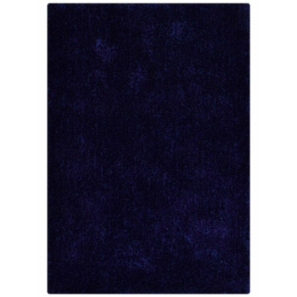Sanford Solid Hand-Woven Blue Area Rug by Ebern Designs