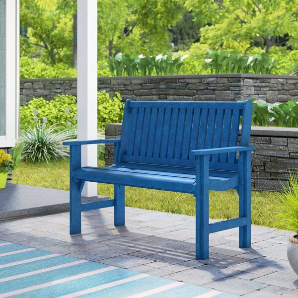 Alanna Plastic Garden Bench by Beachcrest Home