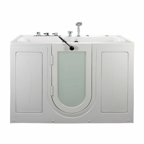 Tub4Two Two Seat Outward Swing Door Hydro Massage 60 x 31.75 Walk in Bathtub by Ella Walk In Baths