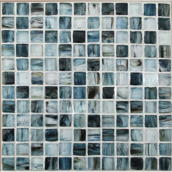 Royal 1 x 1 Glass Mosaic Tile in Blue by Tile Focus