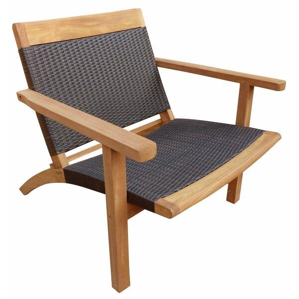 Siri Teak Patio Chair by Highland Dunes