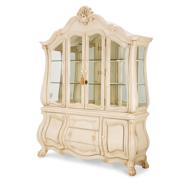 Chateau De Lago Lighted China Cabinet By Michael Amini New