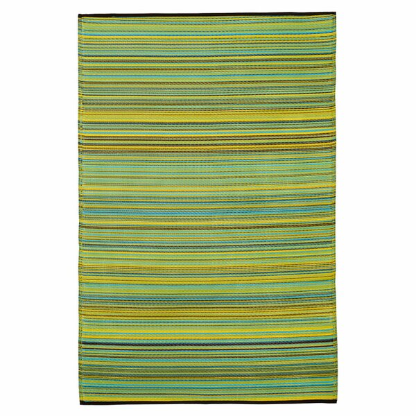 Raub Blue/Green Outdoor Area Rug by Wrought Studio