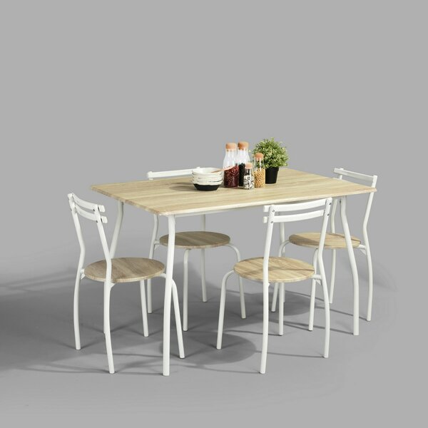 Lesedi 5 Piece Dining Set by Ebern Designs Ebern Designs
