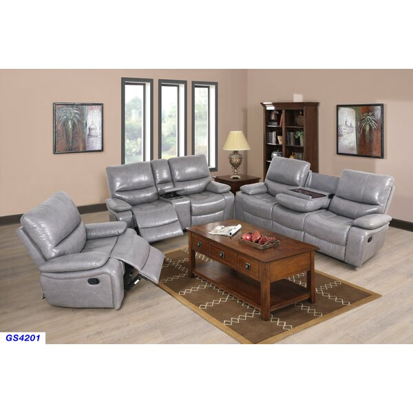 Jossi PU 3 Piece Reclining Living Room Set by Latitude Run