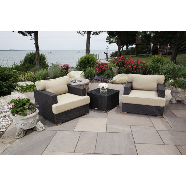 Salina Deep Rattan Seating Group with Cushions by Madbury Road