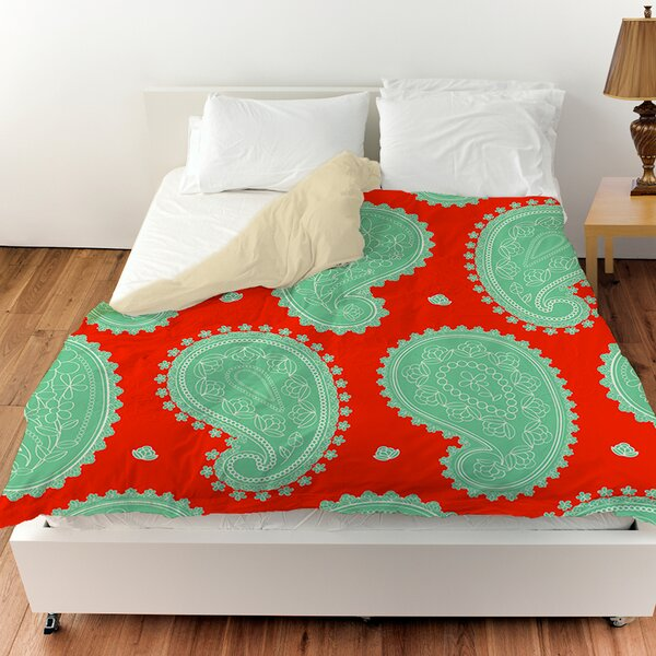Paisley Floral Duvet Cover by Manual Woodworkers & Weavers