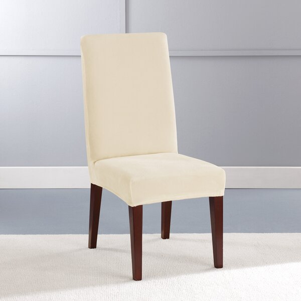 Stretch Plush Short Polyester Dining Chair Slipcover by Sure Fit