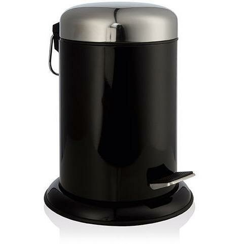 Round Pedal Stainless Steel Step On Trash Can by AGM Home Store