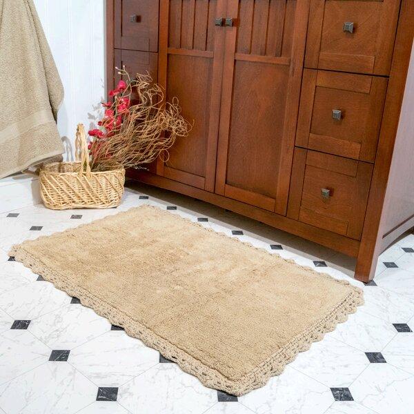 Palmhurst Rectangle 100% Cotton Reversible piece Bath Rug Set (Set of 2)