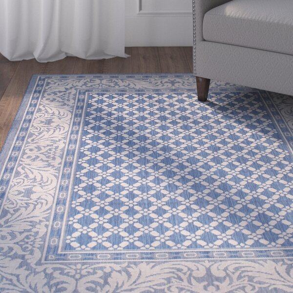 Benningfield All Weather Blue Indoor/Outdoor Area Rug by Charlton Home