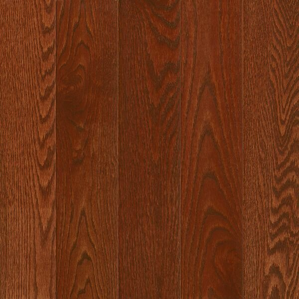 Prime Harvest 5 Solid Oak Hardwood Flooring in Low Glossy Berry Stained by Armstrong Flooring