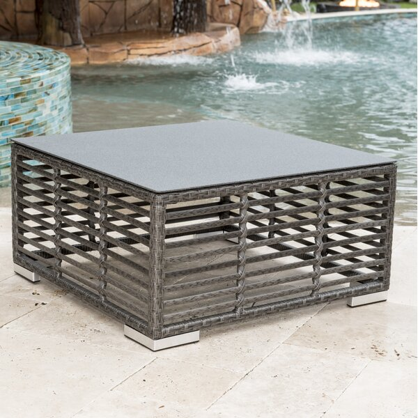Graphite Wicker Coffee Table by Panama Jack Outdoor