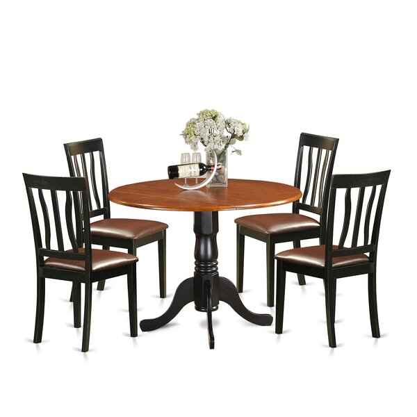 Fresh 5 Piece Extendable Dining Set By East West Furniture Design