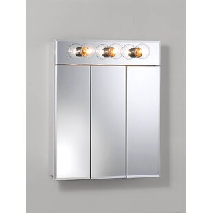 Compare prices Ashland 23.5 x 27.75 Surface Mount Medicine Cabinet with Lighting ByJensen