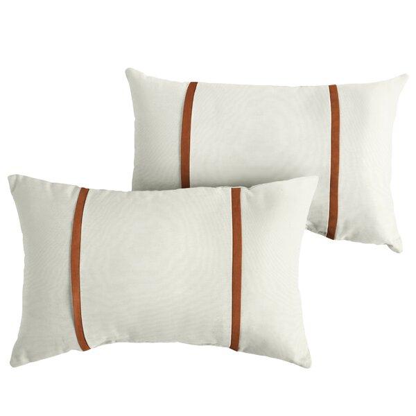 Flaugher Indoor/Outdoor Sunbrella Lumbar Pillow (Set of 2) by Charlton Home