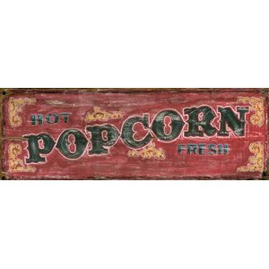 Red Horse Popcorn Vintage Advertisement Plaque by Red Horse Arts