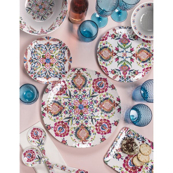 Phair Floral 12 Piece Melamine Dinnerware Set, Service for 4 by Bungalow Rose