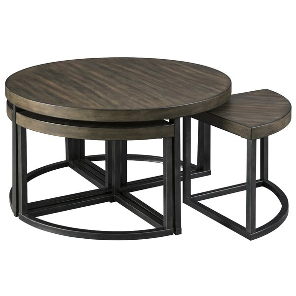 Hamall Cross Legs Coffee Table With 4 Stools By Latitude Run
