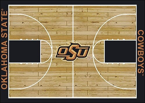 NCAA College Home Court Oklahoma State Novelty Rug by My Team by Milliken