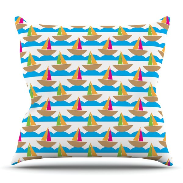 Beside the Seaside by Apple Kaur Designs Outdoor Throw Pillow by East Urban Home